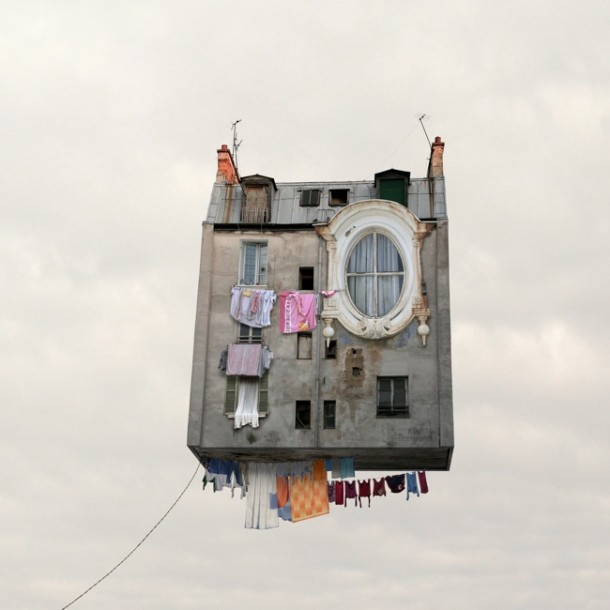 Flying houses by Laurent ChehereFlying houses by Laurent Chehere