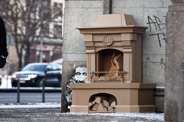 Cardboard sculptures by Bartek Elsner