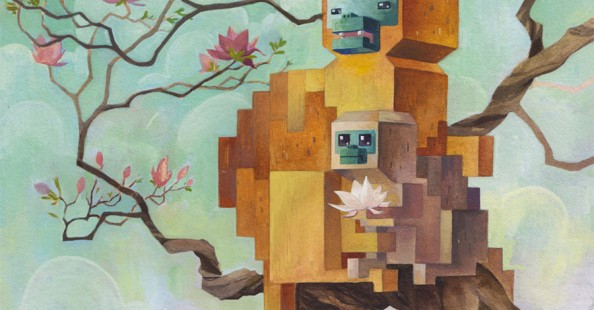 """Menagerie"", 3D pixels paintings by Laura Bifano""Menagerie"", 3D pixels paintings by Laura Bifano"