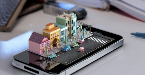 iPhone – Diorama by Michael Ko