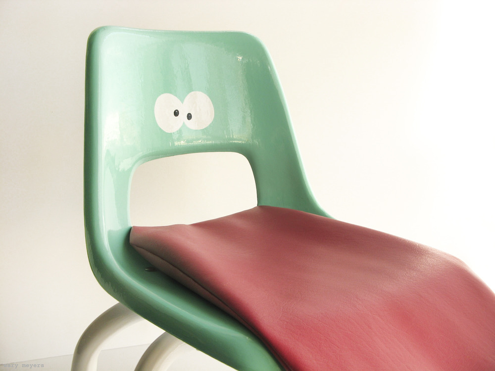Growing up absurd childrens chair by Wary Meyers