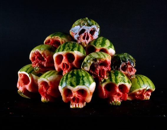 Fruit and Veggie Skulls by Dimitri Tsykalov