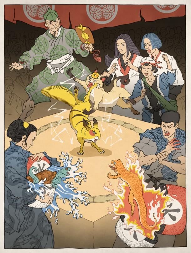 Ukiyo-e heroes by Jed HenryUkiyo-e heroes by Jed Henry
