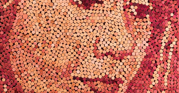 Wine Cork Portraits by Scott GundersenWine Cork Portraits by Scott Gundersen