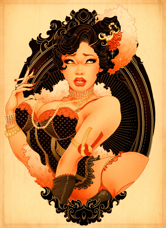 American Japanese Pin up girls by ONEQ