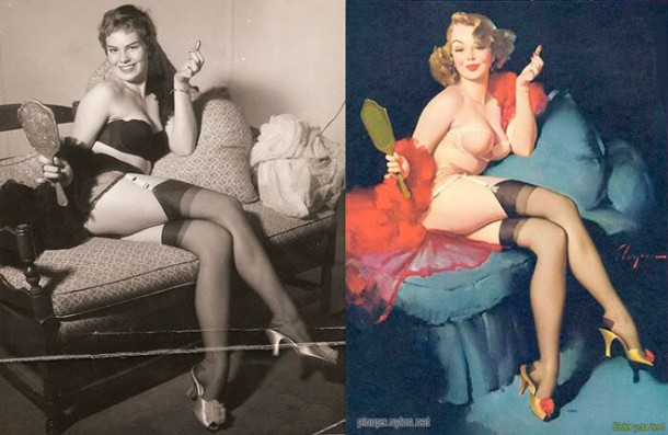 The real Pin up