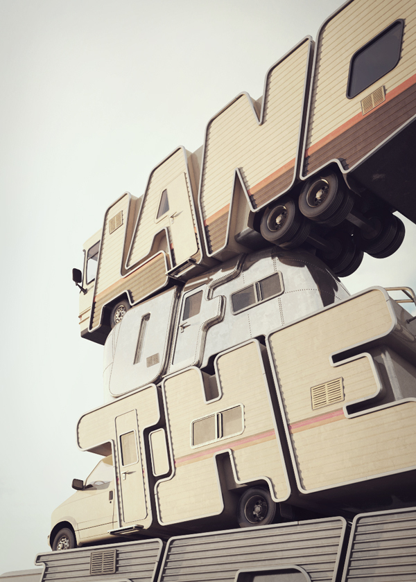 3D Typography by Chris LaBrooy3D Typography by Chris LaBrooy