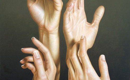 Beautiful hyper-realistic painting by Omar Ortiz