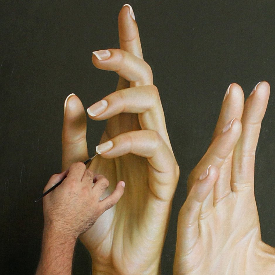 Beautiful hyper realistic painting by Omar Ortiz