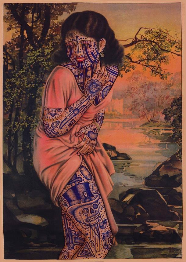 Ramon Maidens tattoos on old prints