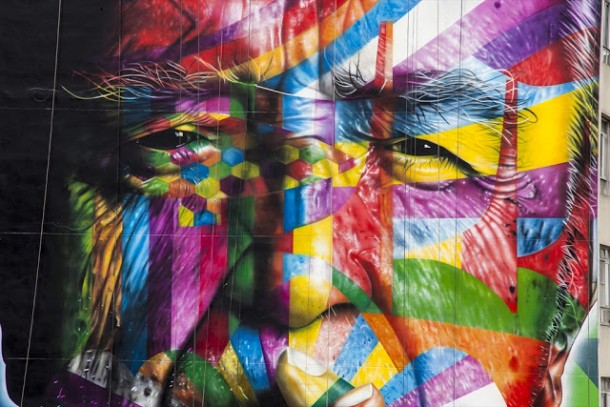 New Mural In Sao Paulo by Eduardo Kobra New Mural In Sao Paulo by Eduardo Kobra