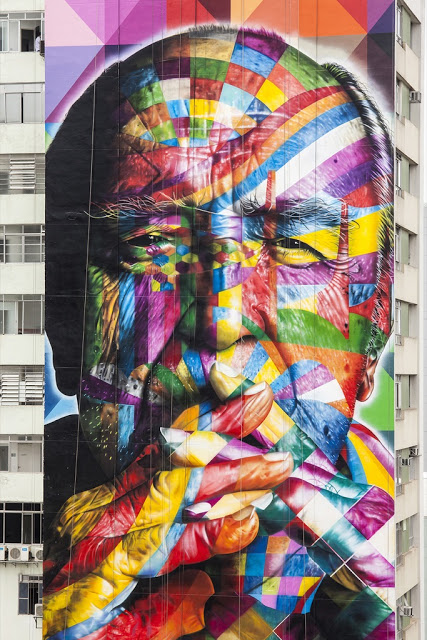 New Mural In Sao Paulo by Eduardo Kobra