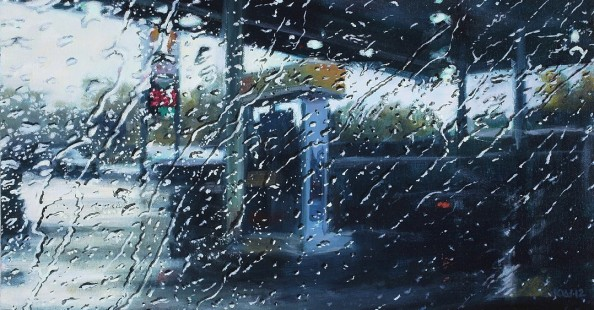 Driving rain - Paintings by Karen Woods