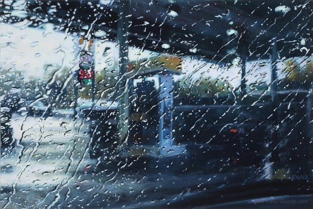 Driving rain - Paintings by Karen WoodsDriving rain - Paintings by Karen Woods