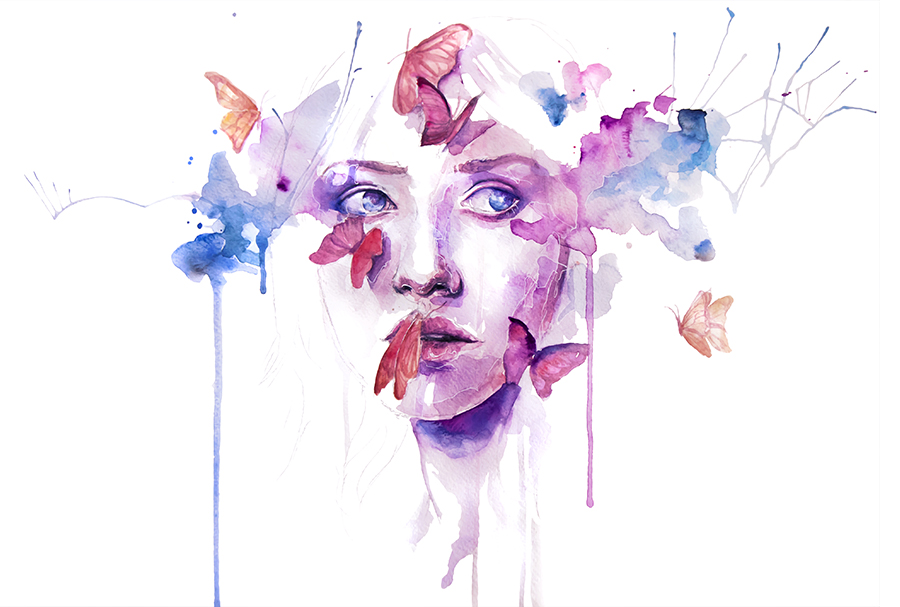 Incredible paintings by Silvia Pelissero aka agnes cecile