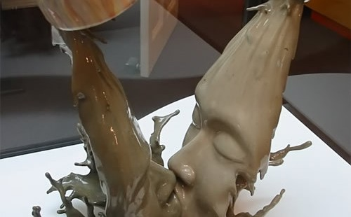 Johnson Tsang's stainless steel and ceramic splashes