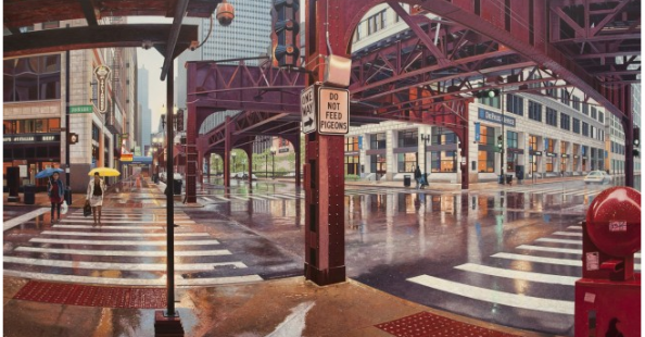 Nathan Walsh's realistic cityscapes paintings