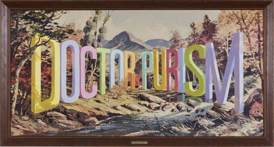 Vintage Landscape with Three Dimensional Typography