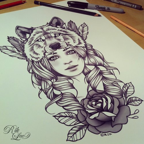 Bear headdress drawing - photo#53