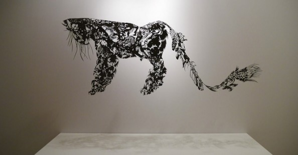 The Cloud Leopard Papercut Sculpture