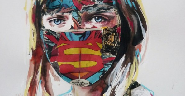 (English) Comic Book Portrait Collages by Sandra Chevrier