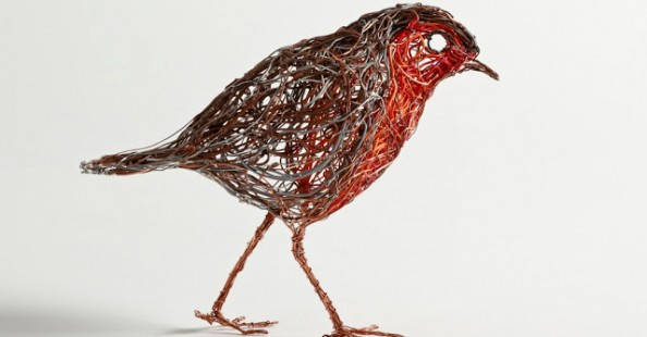 Telephone Wire Sculptures by Celia Smith
