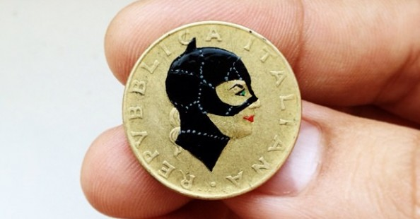 Pop Culture Characters on Found Coins
