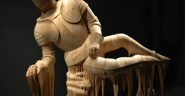 (English) Hand carved wood sculptures by Morgan Herrin