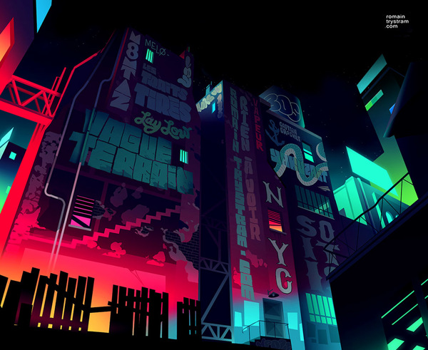 Stunning vector cityscapes by Romain Trystram