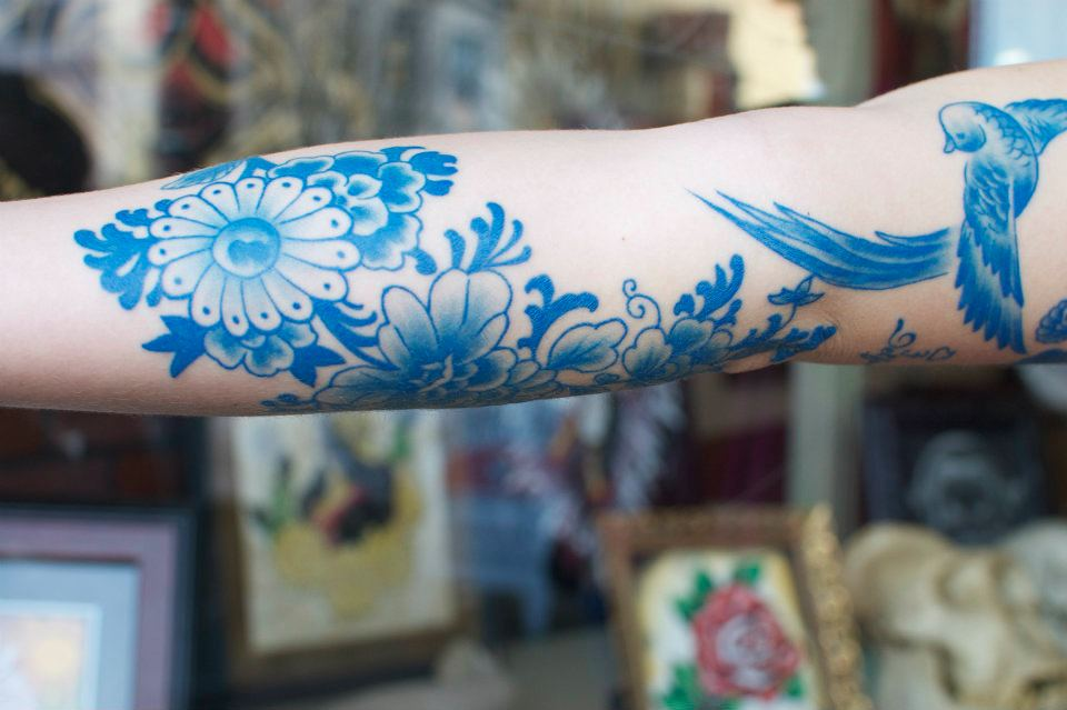 Blue tattoo and other artworks by SirLexi Rex