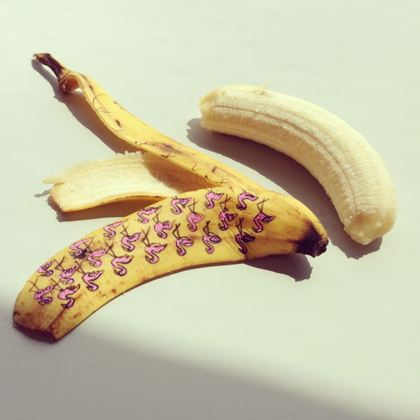 Art for breakfast! Banana Graffiti by Marta Grossi