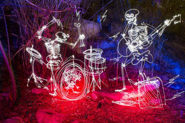 Light painting by Darren Pearson