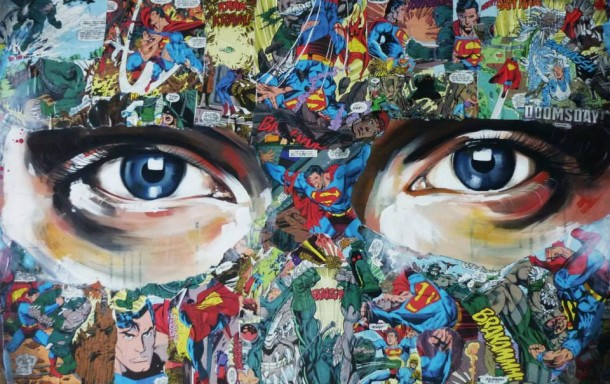 Super Hero Canvas by Sandra Chevrier