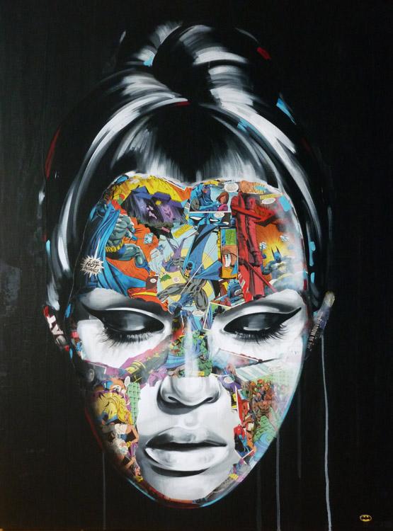 La Cage quand la folie nous gute, 48X36, 2013