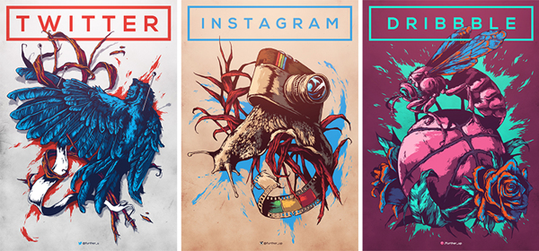 Social Networks Illustrations by Ivan Belikov