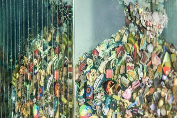 3D Collages Encased in Layers of Glass by Dustin Yellin