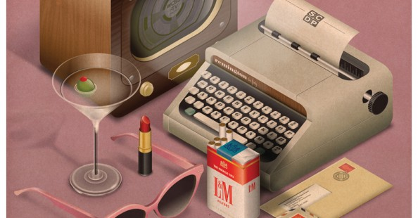 Vintage style illustrations by Radio