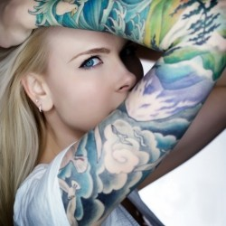 colourful-arm-tattoo-for-girls