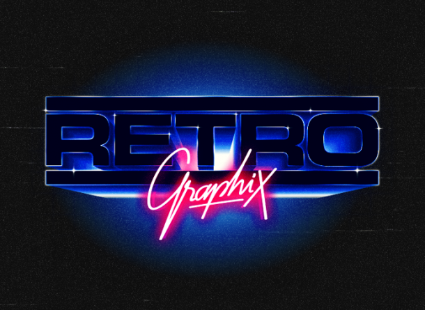 Overglow - retrofuturistic logos