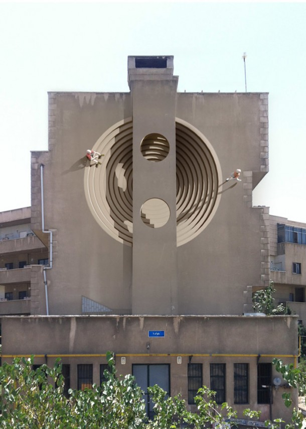 Surreal murals in Tehran