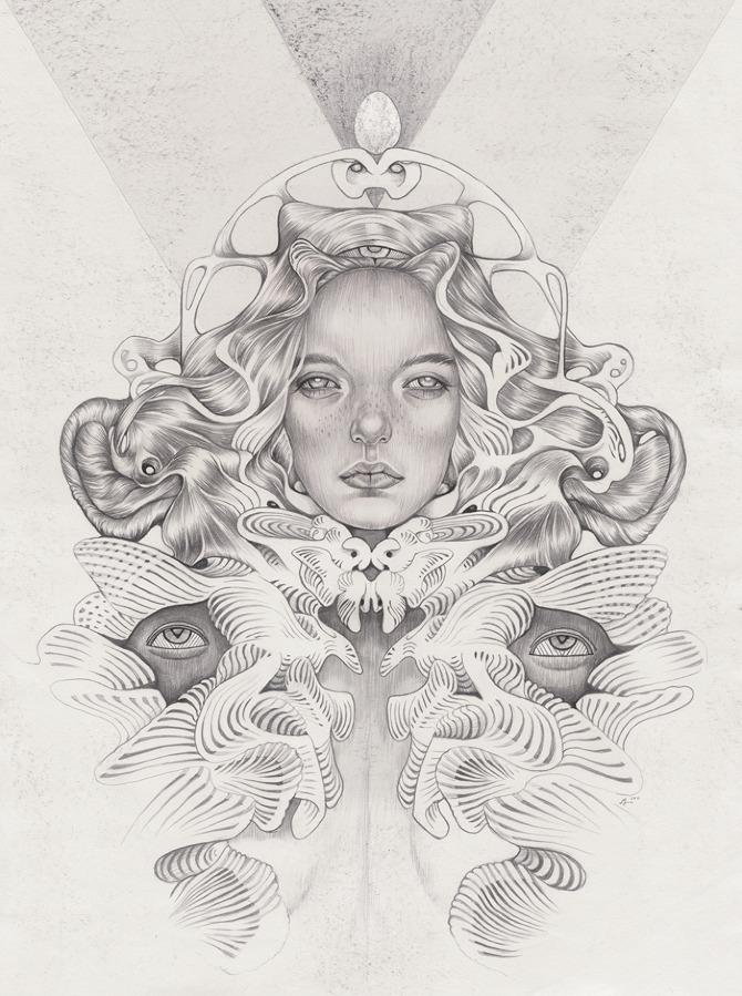Beautiful drawings by Martine Johanna