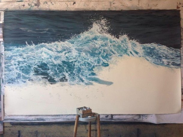 Hyperrealistic seascape drawings by Zaria Forman