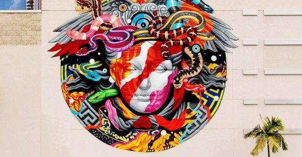 POW! WOW! x Versace mural with Tristan Eaton