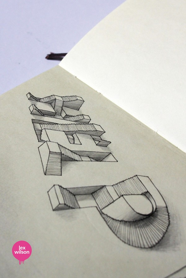 3D Typography by Lex Wilson (1)