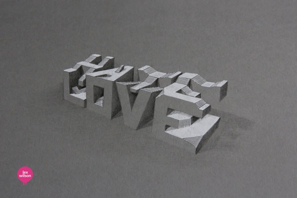 3D Typography by Lex Wilson (14)