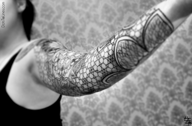 Amazing abstract tattoos by Dotstolines