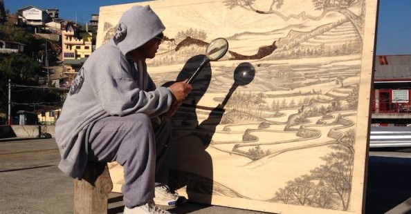 Painting With The Sun - Pyrography Drawings by Jordan Mang-osan