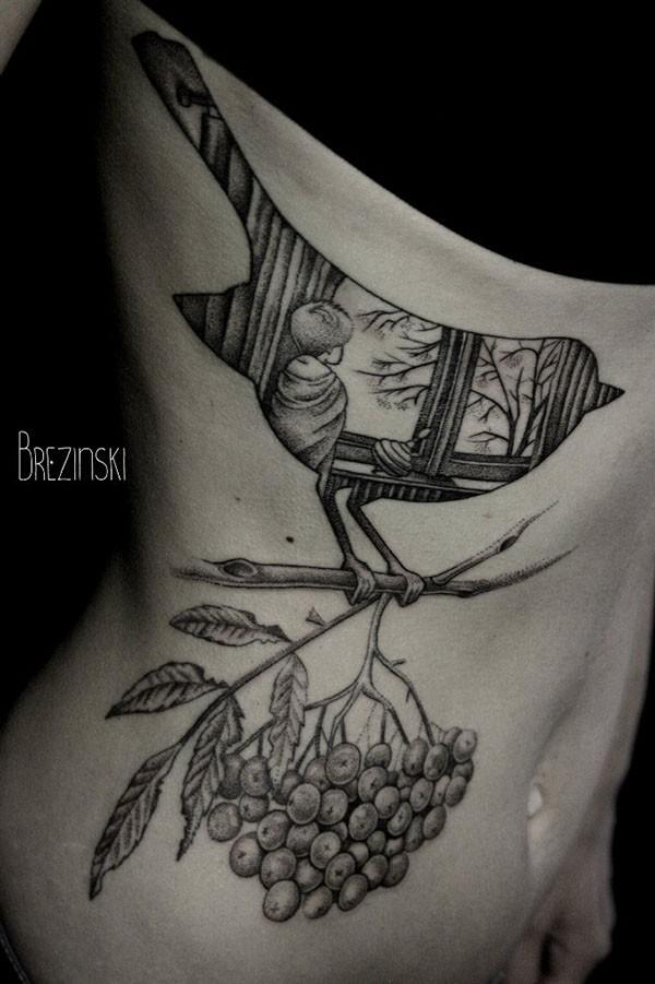 Stunning dotwork tattoos by Brezinski Ilya (6)
