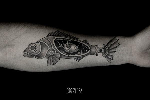 Stunning dotwork tattoos by Brezinski Ilya (7)