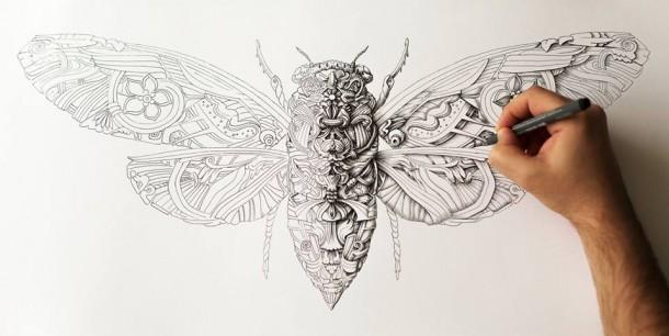 Ink on paper by Alex Konahin